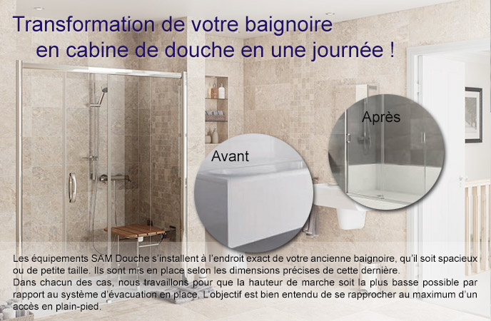changer une baignoire pour une douche amazing quelle. Black Bedroom Furniture Sets. Home Design Ideas